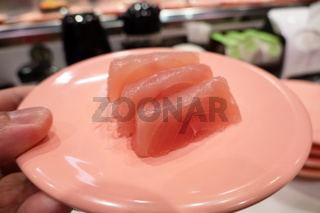 fast sushi on a plate