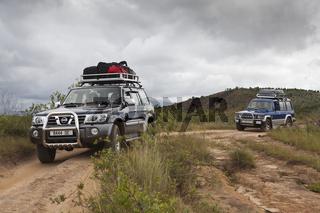 Jeeps im Ankarana Nationalpark, Madagaskar