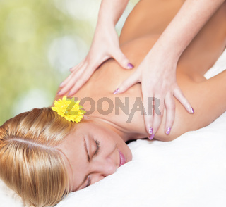 Relaxing massage for young beautiful woman