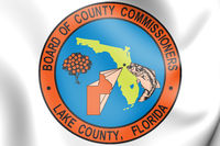 3D Seal of Lake county (Florida state), USA. 3D Illustration.