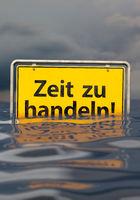 Time to act (in German: Zeit zu handeln), portrait format