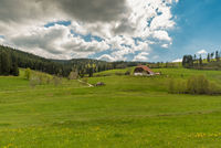 Black Forest landscape with traditional farm house, Jostal near Breitnau, Germany