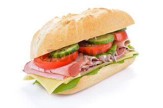 Leckeres Schinkensandwich