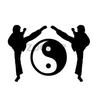 kung fu Logo five