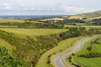 View of the Cuckmere river valley from High and Over viewpoint in Sussex
