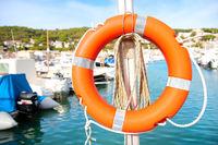 Harbor Estartit Spain life buoy