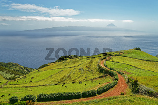 Azores - View to the volcano Pico