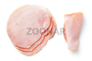 Smoked Pork Loin Isolated On White Background
