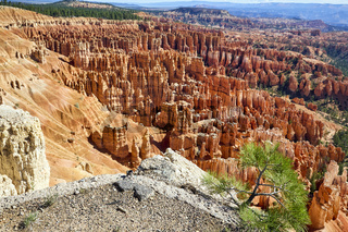 Inspiration Point Lookout in the Bryce Canyon National Park. Utah USA