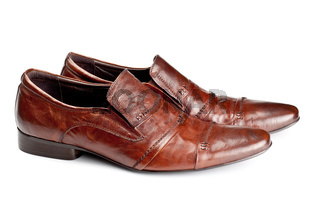 brown shoes pair