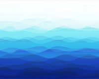 Blue Marine Background With Line