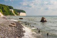 Kreidefelsen an der Küste der Ostsee auf der Insel Rügen