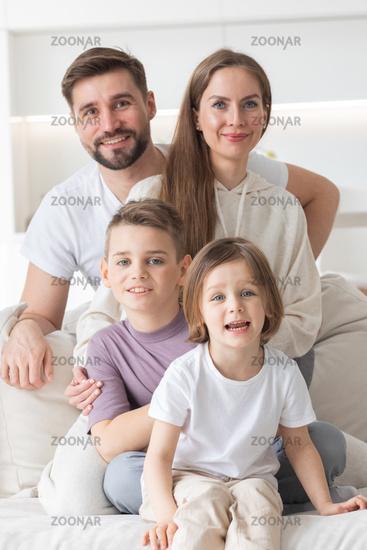 Domestic family portrait
