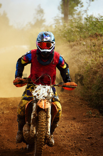 Motorcyclist on the competition at motorcycle race
