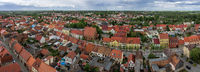 Panoramic view on old town of Juterbog, Brandenburg district, Germany