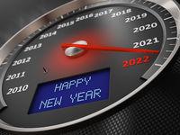 speedometer Happy New Year 2022