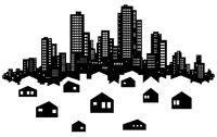 Skyline City Suburbs Silhouette