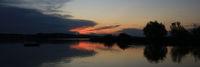 Beautiful calm summer evening at the shore of Lake Pfaeffikon.