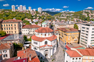 City of Rijeka saint Vid cathedral aerial view
