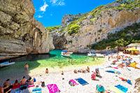 Stiniva beach on Vis island in Croatia