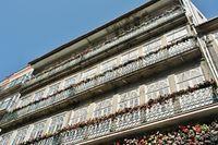 Traditional facade in Rua das Flores, Porto - Portugal