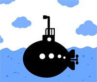Submarine Sailing Cartoon