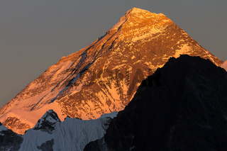 Everest seen from Gokyo Ri shortly before sunset
