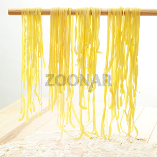 Drying pasta on a stick