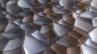 Fractured surface of cubic shapes
