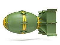 Yellow green cartoon aerial bomb 3D