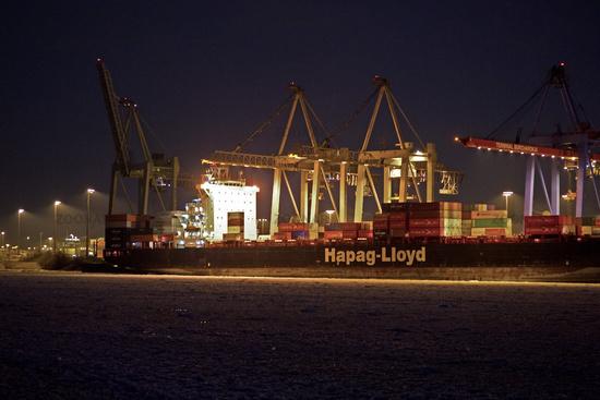 Eis im Hamburger Hafen