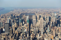 aerial view of New York City (USA)