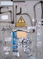 defaced metal box
