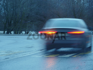 car motion blur