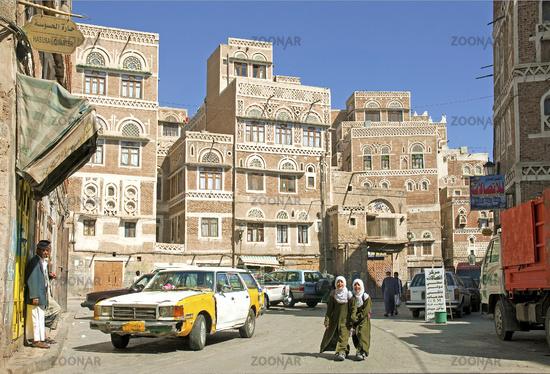 sanaa old town in yemen