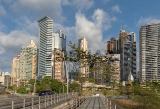 view of the modern skyline of Panama City , Panama