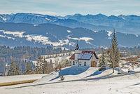Ökumenische St. Hubertuskapelle,  Forst bei Scheidegg im Allgäu