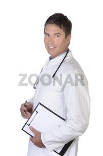Männlicher Arzt Portrait stehend