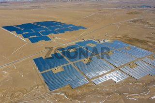 solar power station in the northern tibetan plateau