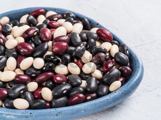 Mixed of black, red and white beans