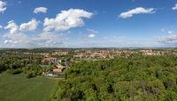 Blick über Quedlinburg Panoramaaufnahme Luftbild