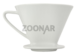 Isolated Filter Coffee Dripper Or Cone