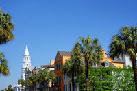 View of Broad Street in historic Charleston SC