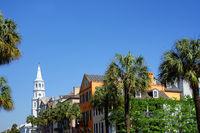 View of Broad Street in historic Charleston SC