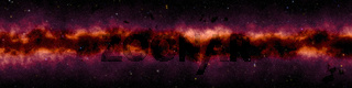 wide starry night sky background banner