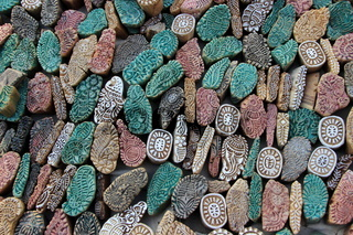 Colorful Stone Mold Pieces