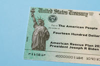 Illustration of the 2021 federal stimulus payment check from the IRS