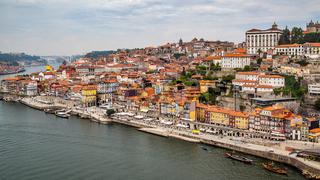 Porto city with Douro river