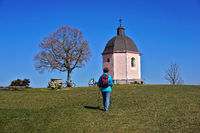 chapel old mountain on the swabian alps, germany