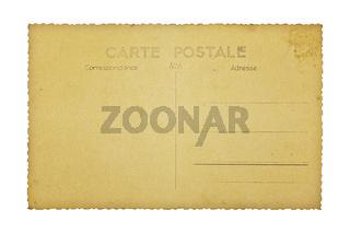 Alte französische Postkarte, isoliert auf weiss